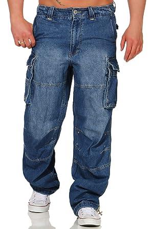 Jet Lag Herren Cargo Jeans Hose Safety Loose-Fit denim  Amazon.de   Bekleidung b5b6dfc706