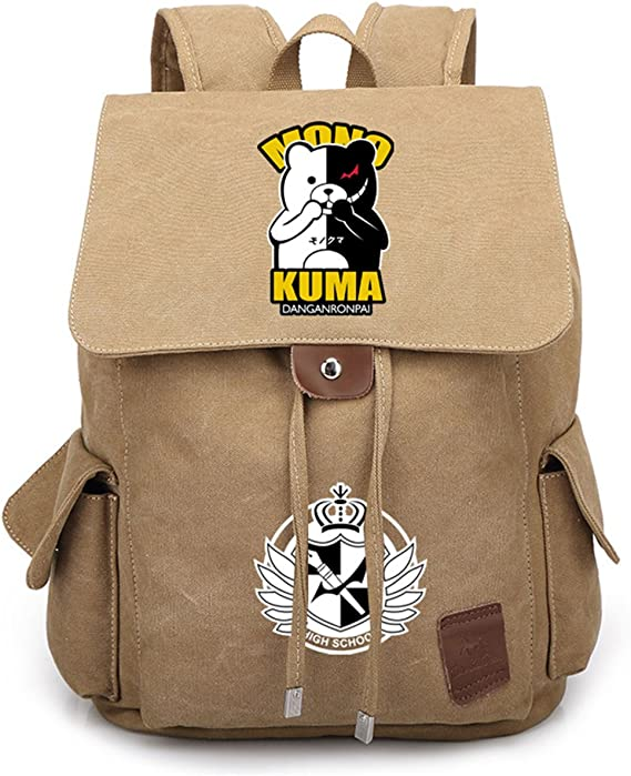 Gumstyle Danganronpa Backpack Anime School Bag Classic Schoolbag Black