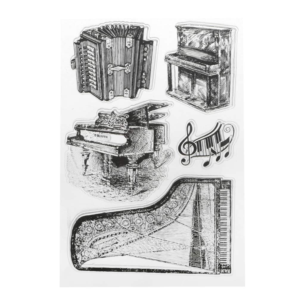Tajie Pianoforte Silicone Timbro Timbro Sigillo Scrapbook DIY Album Decorazione Artigianato Art