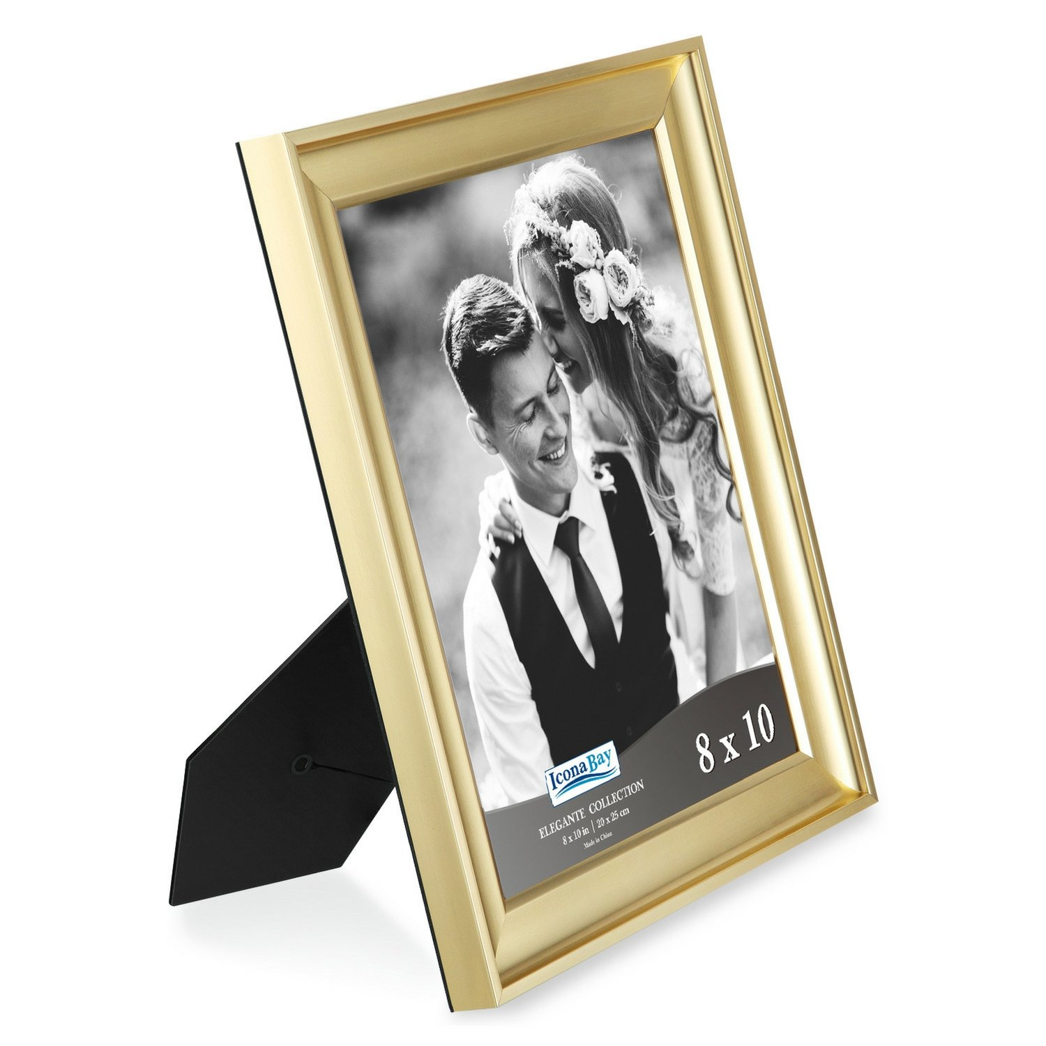 Icona Bay 8x10 Picture Frame (6 Pack, Gold), Gold Photo Frame 8 x 10, Wall Mount or Table Top, Set of 6 Elegante Collection by Icona Bay (Image #3)
