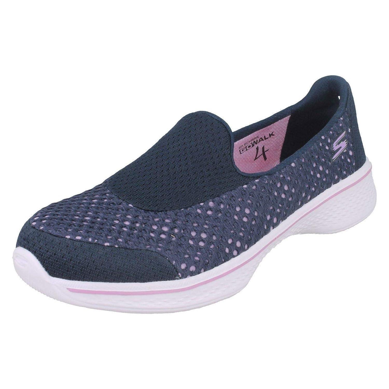 Skechers Girls Flats Mesh Detail Go Walk 4 Kindle 81118