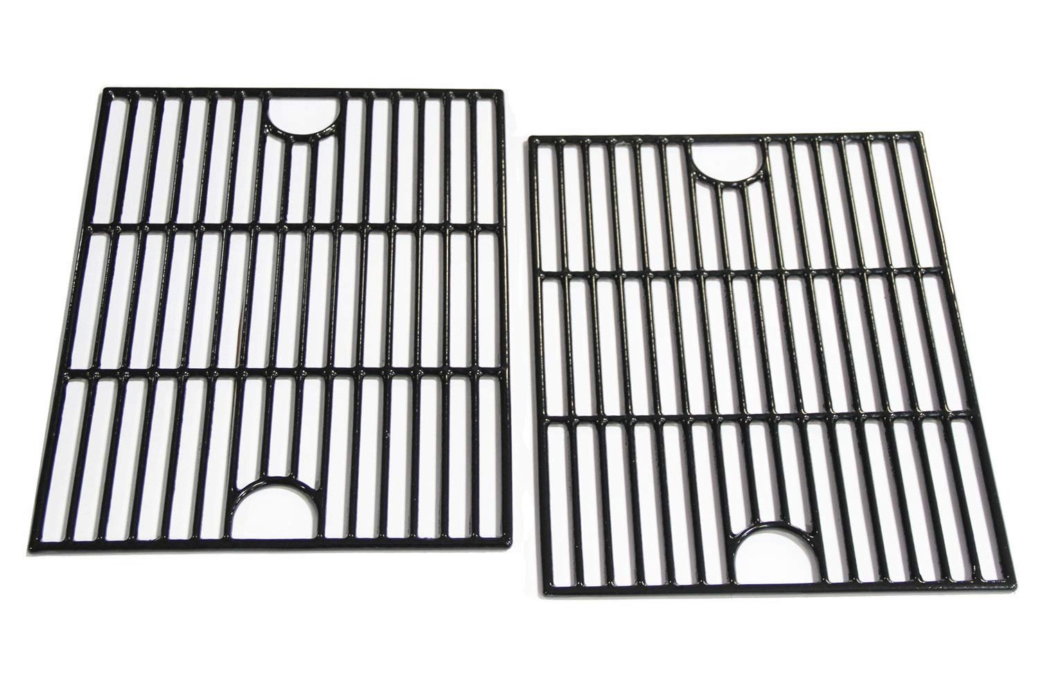 Hongso 17 inch Porcelain Coated Cast Iron Cooking Grids Grates Replacement for Nexgrill 720-0830H, Kenmore 41516106210 415.16106210 Gas Grill, Set of 2 (PCA192) by Hongso