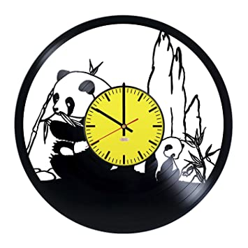 Amazon.com: Giant Pandas Handmade Vinyl Record Wall Clock - Get ...