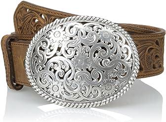 Tony Lama Womens Floral Cutout Leather Belt