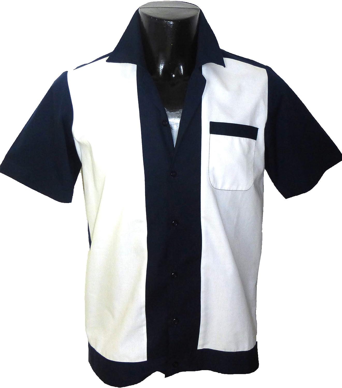 1950s Men's Clothing 1950s/1960s RockabillyBowling Retro Vintage Mens Shirt £21.99 AT vintagedancer.com
