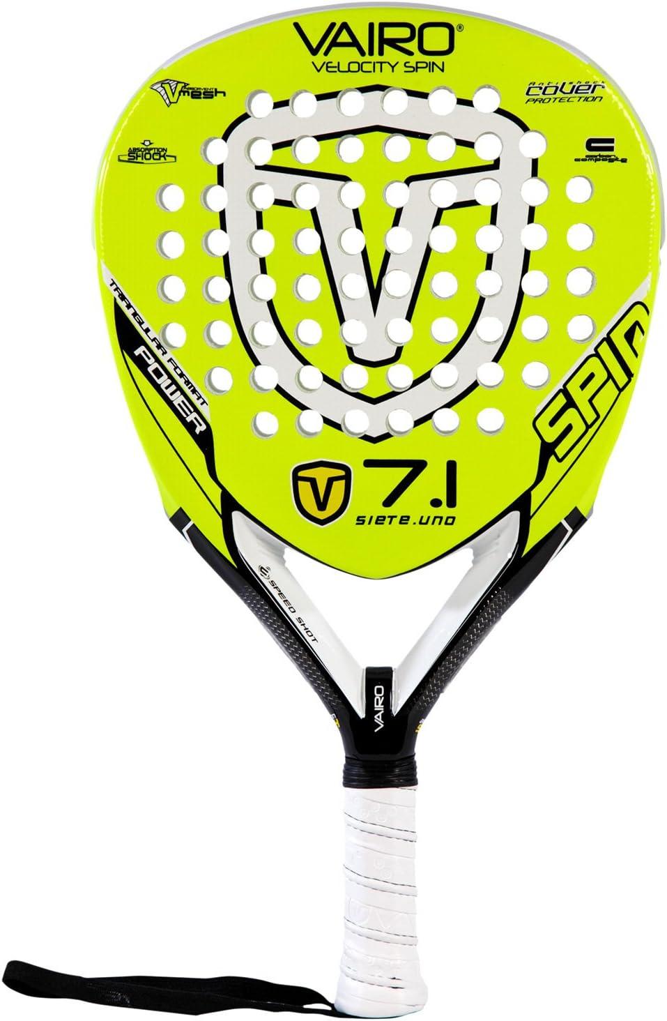 Pala de Pádel Vairo Velocity Spin 7.1: Amazon.es: Deportes y aire ...
