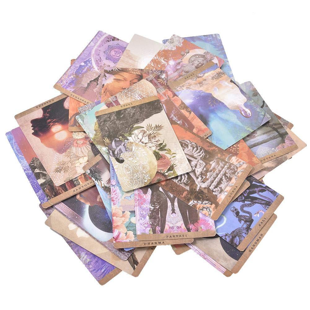 Cada Carta 54 Juegos De Cartas Del Tarot Tarjetas Y Gu/ía Un Camino Y/óguico Baraja Y Gu/ía De Oracle Simbolizada Por Figuras Y Conceptos Sagrados Que Son Integrales Para La Danza Y El Ayurveda