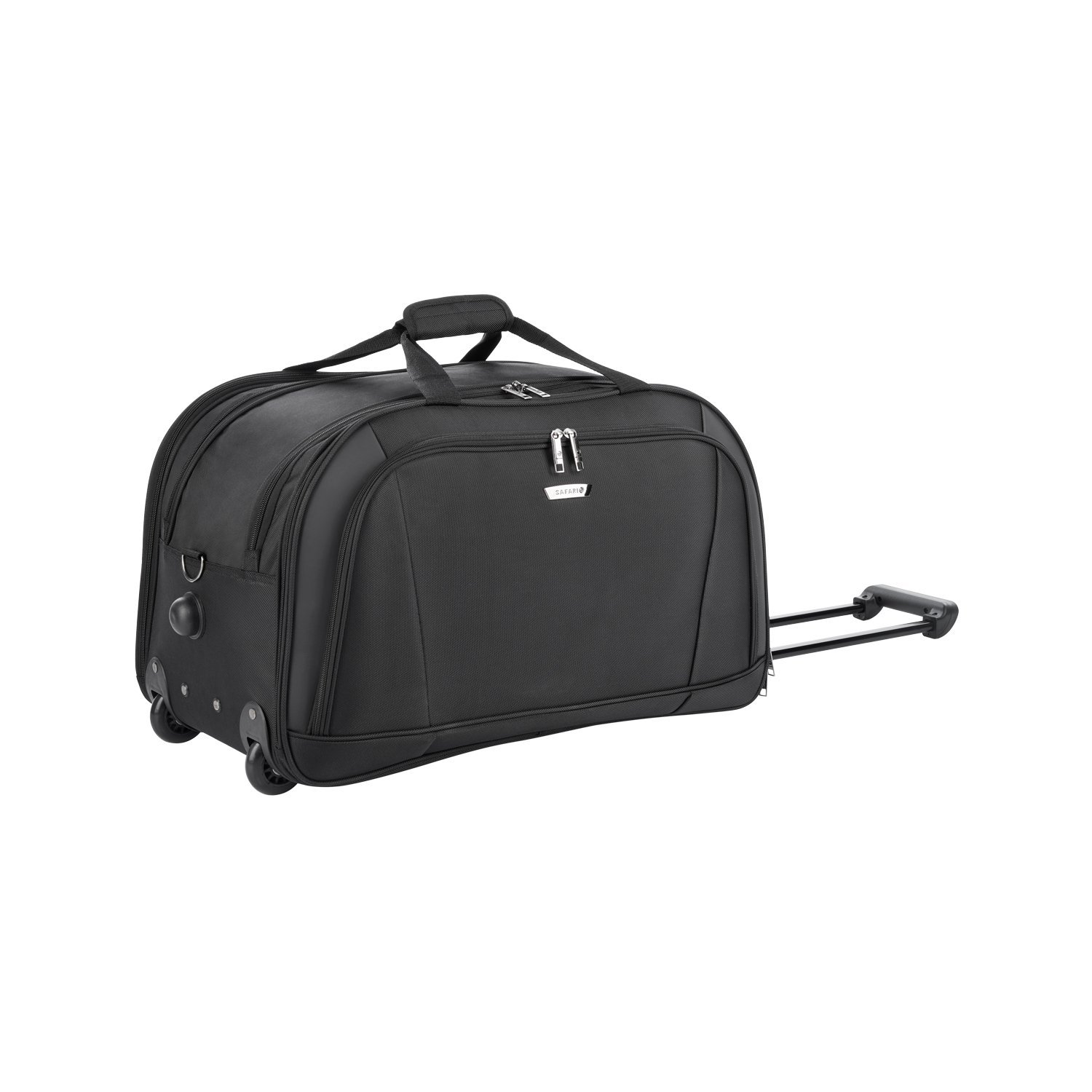 Safari Polyester Black Rolling Duffle (TORCH RDFL 55)  Amazon.in  Bags ace7ed6efe7fc
