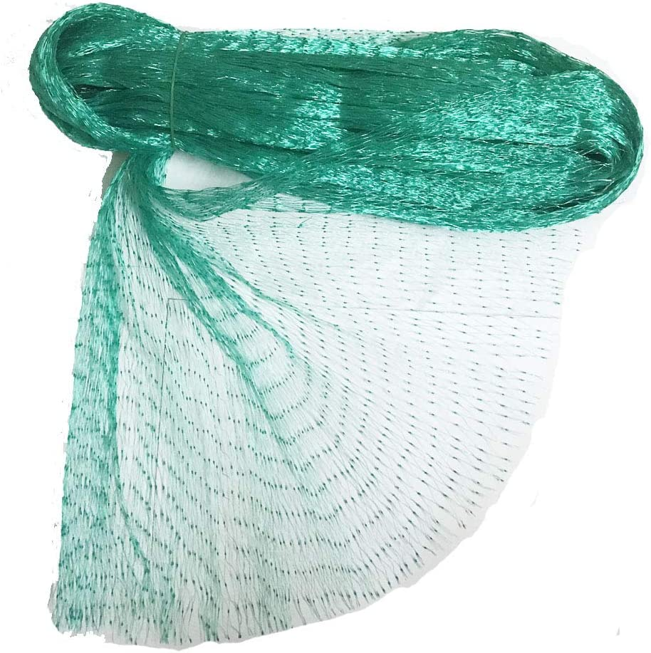 Higoala 33 Ft x 13 Ft Green Anti Bird Netting Garden Protection Mesh Net Reusable Protective Garden Netting for Plants Fruit Trees Against Birds,Deer and Other Animals,Netting Fence (13x33ft)