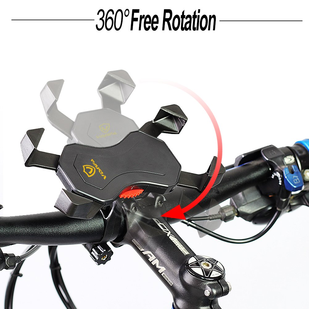 visnfa Bike Phone Mount Anti Shake and Stable Cradle Clamp with 360° Rotation Bicycle Phone mount/Bike Accessories/Bike Phone Holder for iPhone Android GPS Other Devices Between 3.5 to 6.5 inches by visnfa (Image #6)