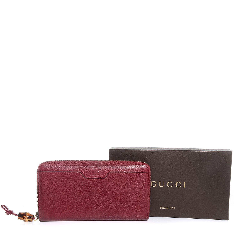 Gucci 339178 Ota4t - Cartera para mujer de Piel Mujer rojo Red Talla Unica: Amazon.es: Zapatos y complementos