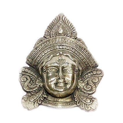 Amazon Com Indian Handicrafts Export Oxidized Brass Golden Durga
