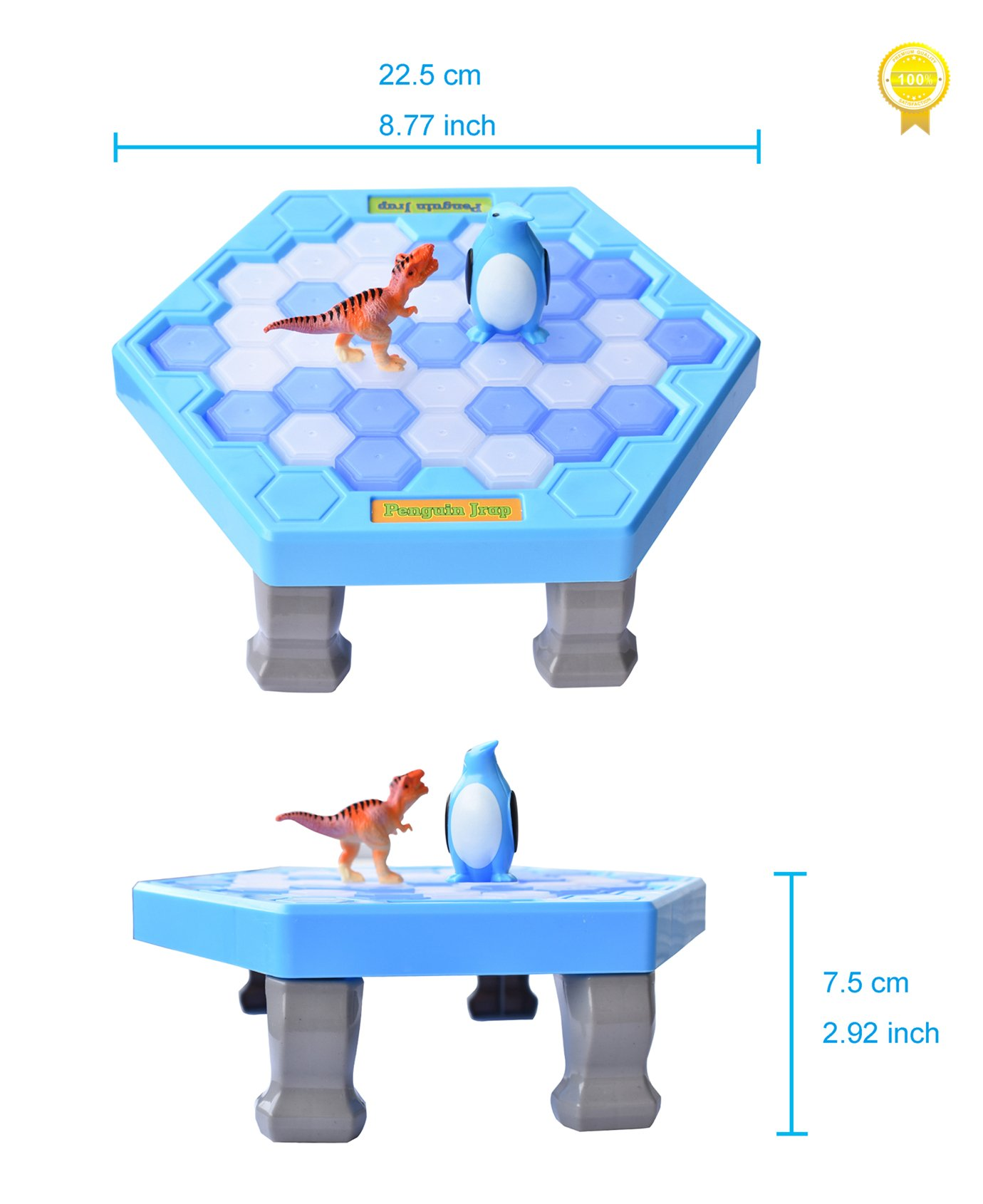 SPEAK FUN Penguin Trap Puzzle Table Games Balance Ice Cubes Icebreaking Games Save the Penguin Interactive Family Game by SPEAK FUN (Image #3)