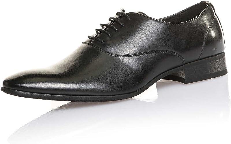 BLZ Jeans Chaussure Ville Noire Basse Couleur: Noir