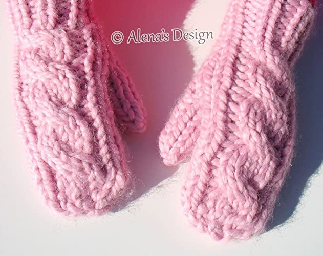 434064d4d Amazon.com: Knitted Mittens Children Women Men Handmade Gloves XS/S/M/L  Child Sizes S/M/L Adult Teen Ladies Cream Gray Pink Red Winter Made in USA  Free ...