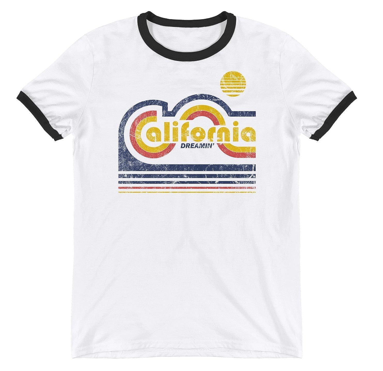 Amazon.com  California Dreamin Tshirt for Men and Women - Vintage Retro T  Shirt  Clothing 9492eef28