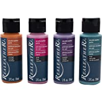 Realeather F2604-01 Leather Acrylic Paints, Brights 4 Piece