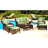 Hanover OSST-6PC-CU-GL Strathmere 6-Piece Patio Seating Set