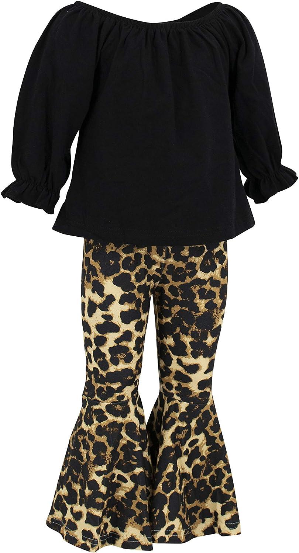 Unique Baby Girls Toddler Kids Leopard Pants Outfit Clothes Set