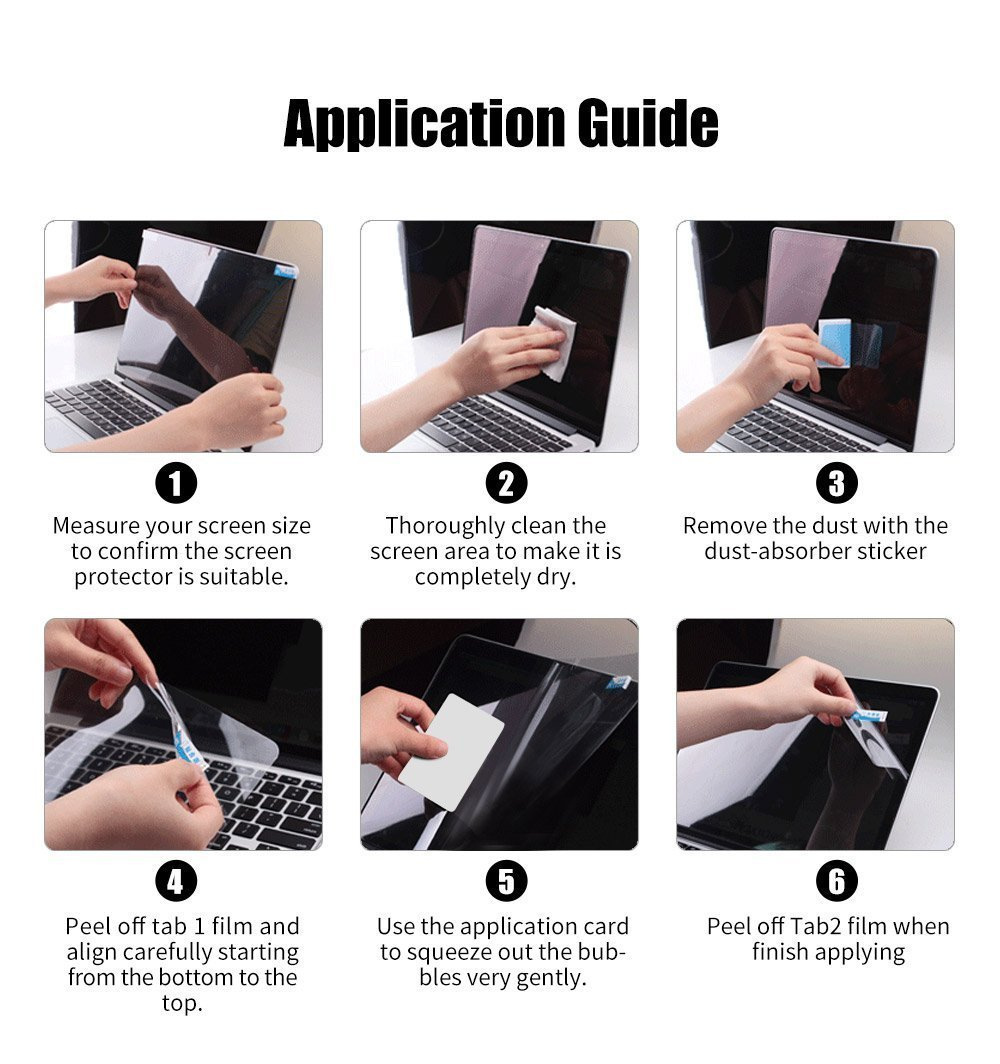 Samsung Notebook 7 Spin 13 Screen Protector,HD Clear LCD Anti-Scratch Anti-Fingerprints Guard Film For 13.3''Samsung Notebook 7 Spin 2018 (NP730QAA) Laptop(2-pack) by Liudashun (Image #6)