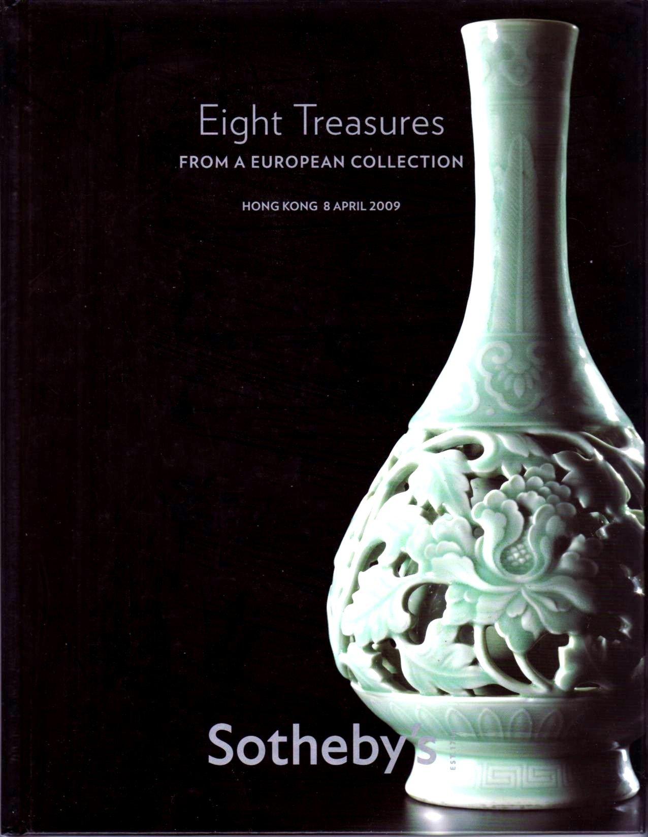 Eight Treasures From A European Collection Hong Kong 8 April 2009 Hardcover