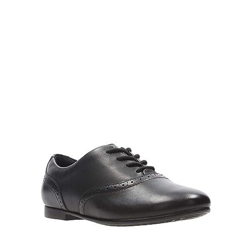 Girls Clarks Lace Up Brogue School Shoes /'Jules Walk/'