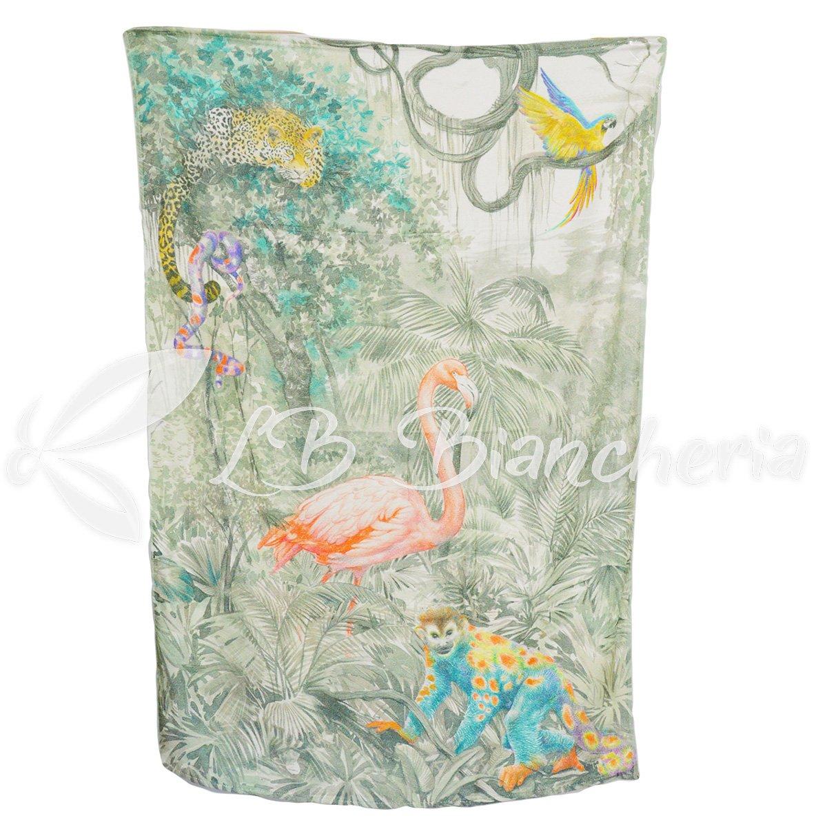 RP toalla playa Esponja tamaño maxi tropical-stampa digitale-made in Italy - cm 100 x 150 - Flamenco: Amazon.es: Hogar