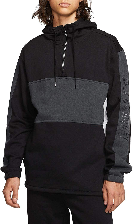Hurley Mens Onshore Quarter Zip Fleece Pullover Hoody
