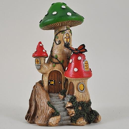 Fée Jardin anglais Champignon Arbre Maison Jardin miniature Décoration de maison – Fée elfe Pixie Hobbit magique Idée de cadeau – Hauteur : 15 cm: Amazon.es: Jardín