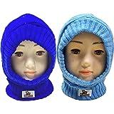 Kidbee Baby Boy's & Baby Girl's Soft Woolen Monkey Cap Pack of 2