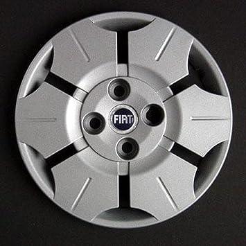 Juego de 4 cuencos 13 embellecedores para Fiat panda para ruedas con logo, color azul