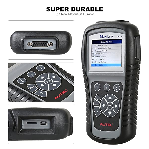 Autel ML619 is a Super Durable ABS OBD2 Scanner.