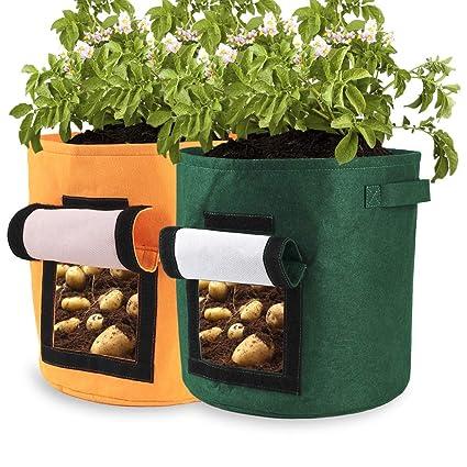 Amazon.com: Pannow - Bolsas de patatas para cultivo (2 ...