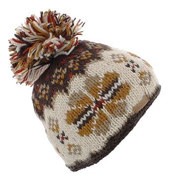 d5266e5cf Kusan (KU1204) 100% Wool Bobble Beanie hat (Mens/Ladies/Unisex ...