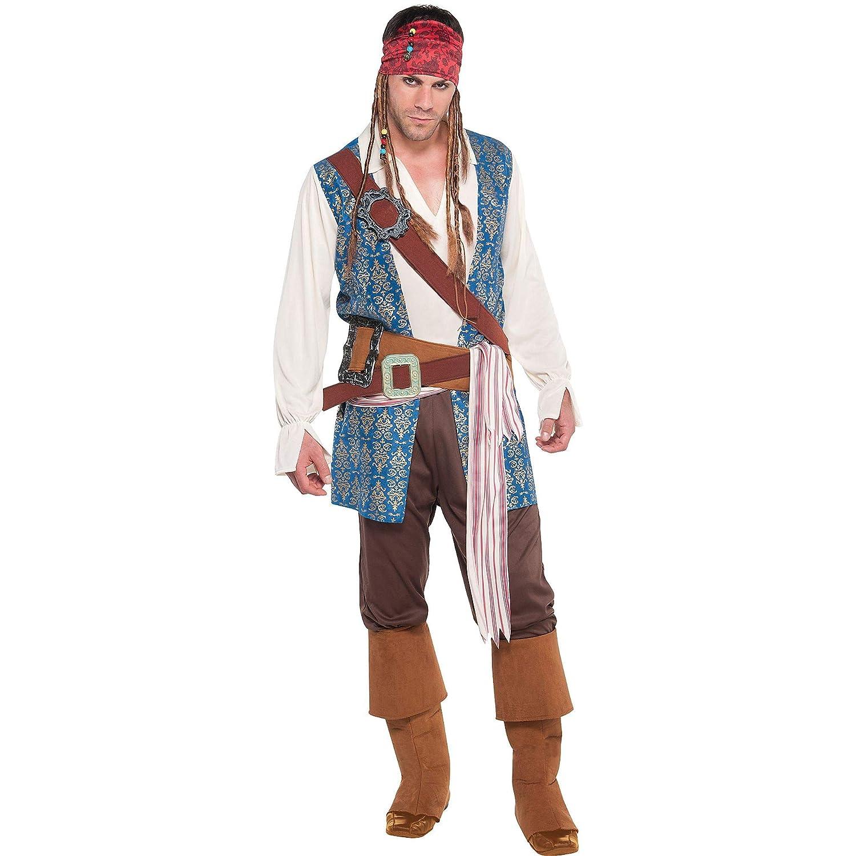 Costumes USA Disfraz de Jack Sparrow Pirata para Adultos, tamaño ...