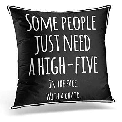 Amazon Com Throw Pillow Cover Black Meme Funny Inspirational