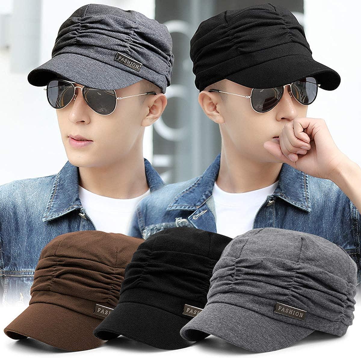 Kajeer Pleated Newsboy Caps Soft Octagonal Hat Breathable Beret UV Protection Baseball Cap Flat Cap for Women /& Man