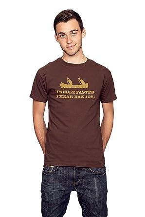 Paddle Faster I Hear Banjos Deliverance inspired Men/'s Printed T-Shirt