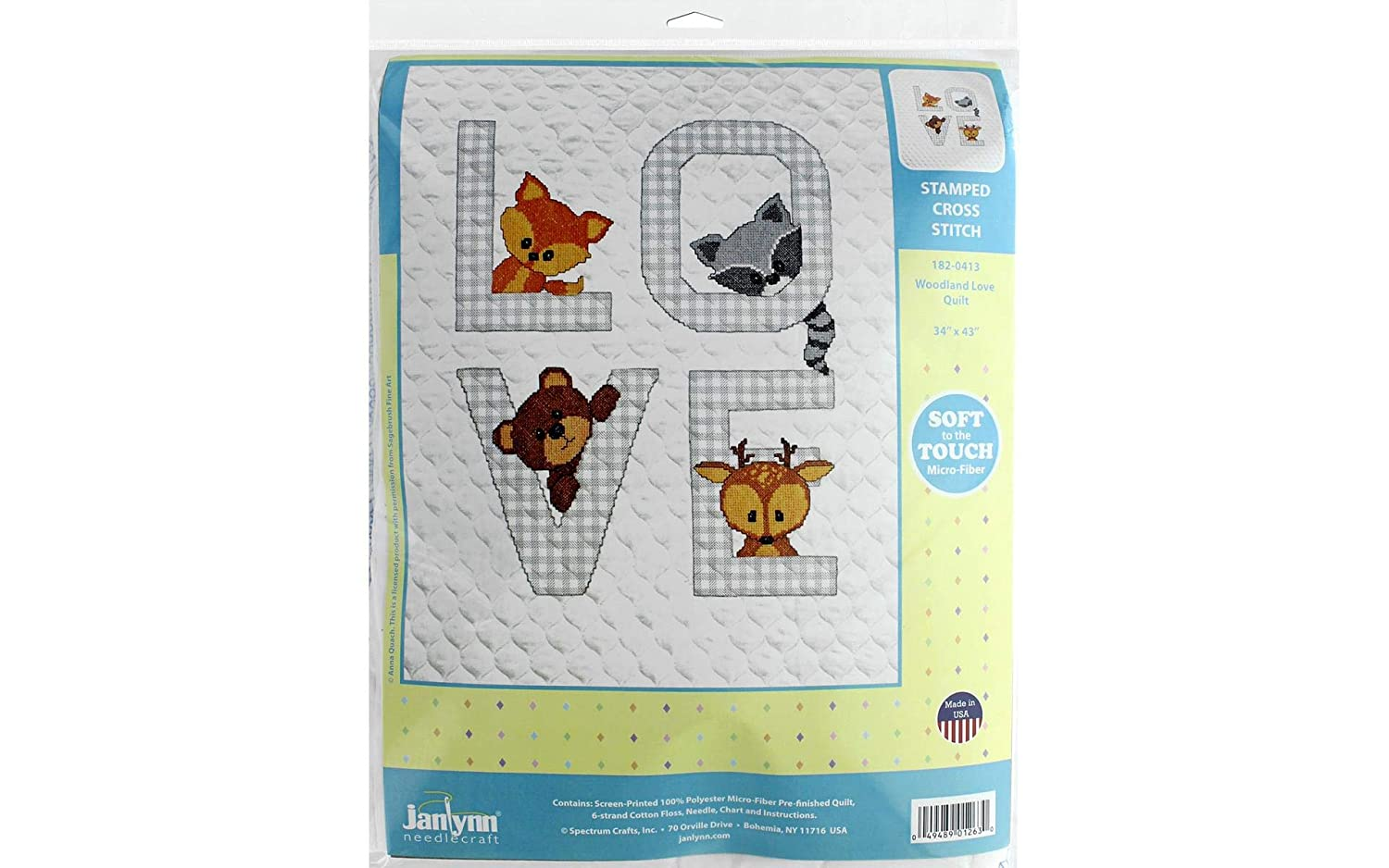 Janlynn 182-0413 Kit Baby 34x43 Woodland Love