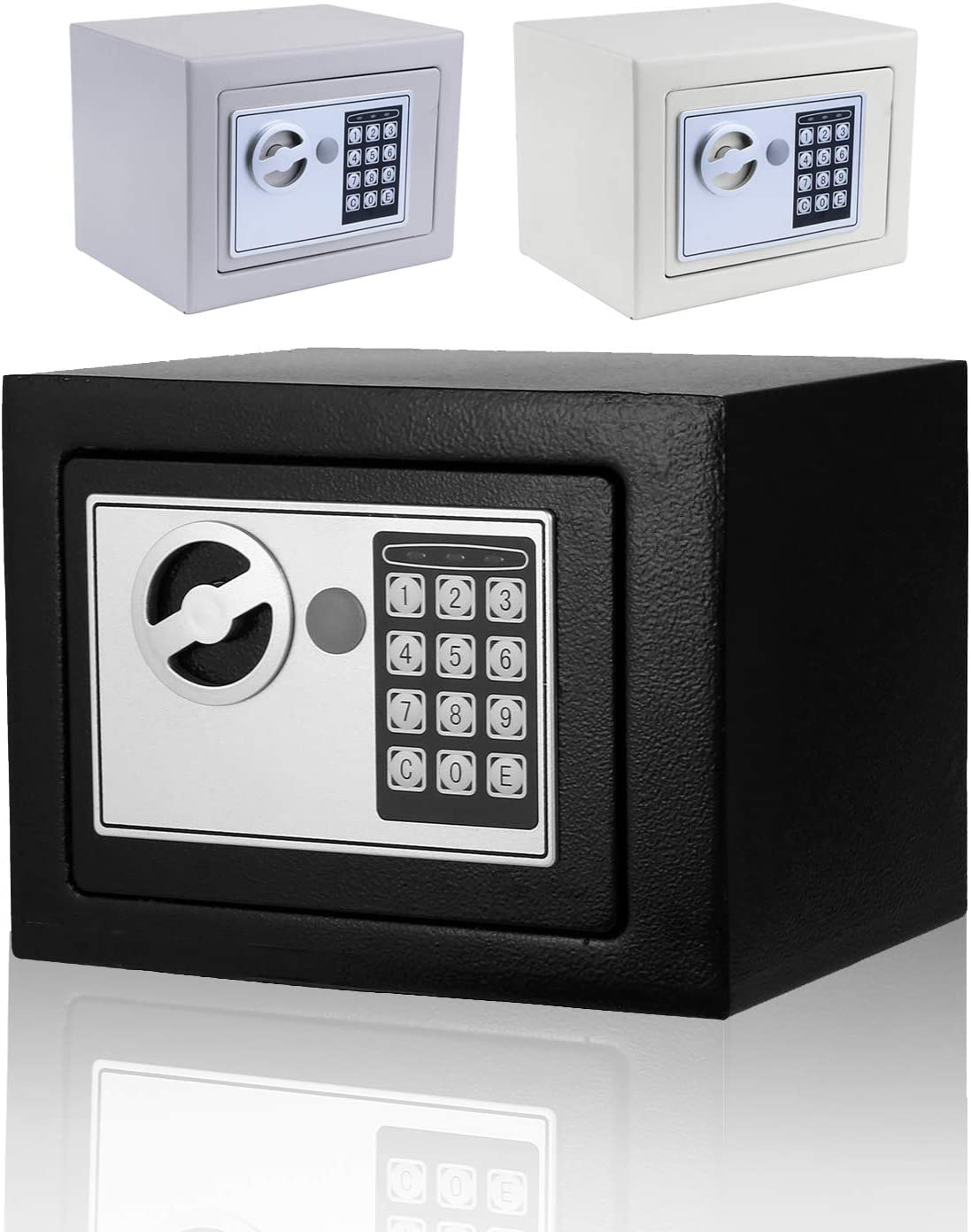 Moroly Security Safe With Digital Electronic Lock Office Home Safe Box Steel Alloy Safe Includes Keys And Batteries Us Stock Black New Amazon Com