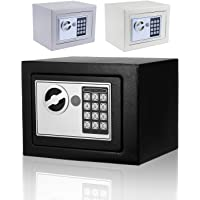 Moroly Security Safe with Digital Electronic Lock, Office/Home Safe Box, Steel Alloy Safe - Includes Keys and Batteries (US Stock) (Black-New)