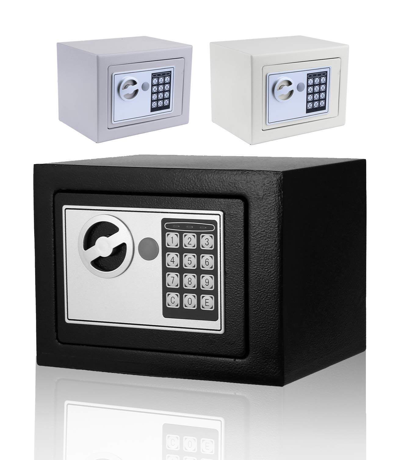 Moroly Security Safe with Digital Electronic Lock, Office/Home Safe Box, Steel Alloy Safe - Includes Keys and Batteries (US Stock) (Black-New) by Moroly