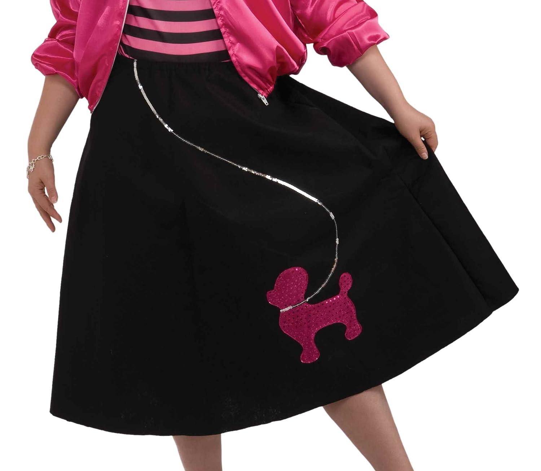 Amazon Forum Novelties Womens 50s Poodle Skirt Set Multi Plus Size Clothing