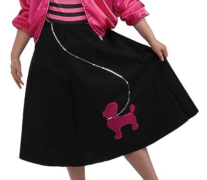 Forum Novelties Womens 50s Poodle Skirt Set Multi Plus Size