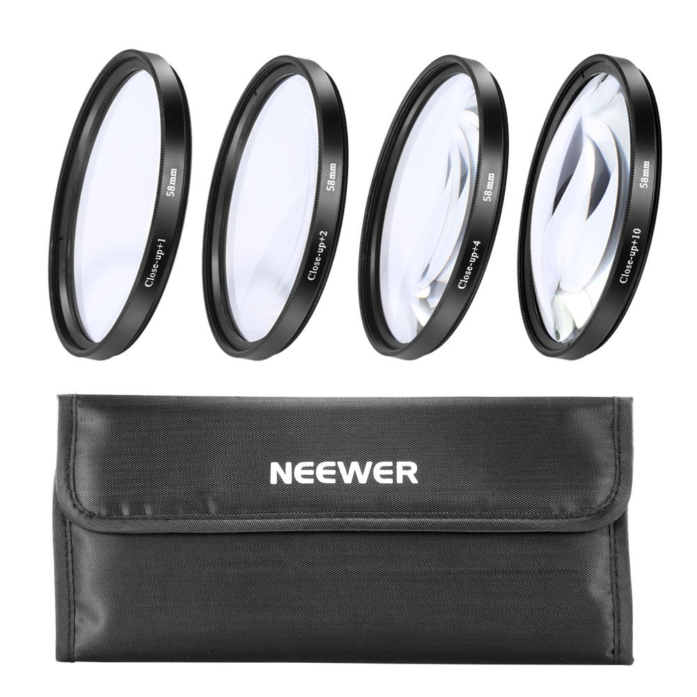 NEEWER® 58mm Close Up Macro Lens Set for Canon XS XSI T1i XTi XT