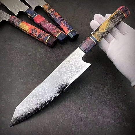 Compra Ybqy Cuchillo de Cocina 1PCS Acero de Damasco ...