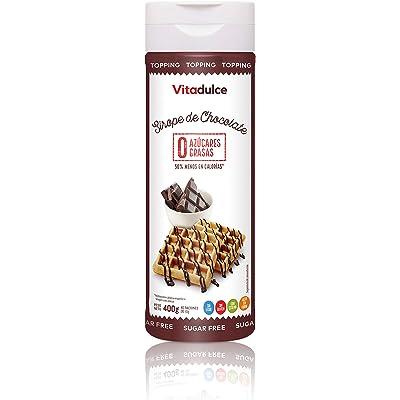 Sirope de chocolate sin azúcar, Topping de chocolate, Sirope bajo en calorías 400 gr - Vitadulce