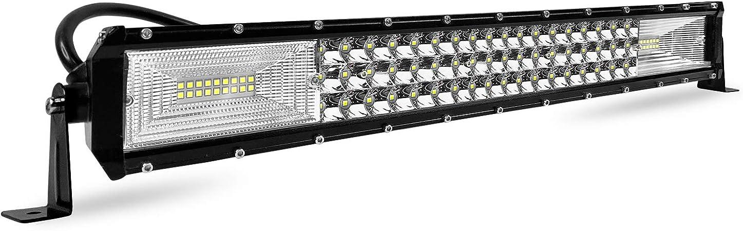 Aufun 270w Arbeitsscheinwerfer Auto Led Light Bar Offroad Zusatzscheinwerfer Geführtes Arbeits Licht Bar Nebel Licht Wasserdicht Ip67 Für Suv Utv Atv 560 X 80 X 70mm Auto