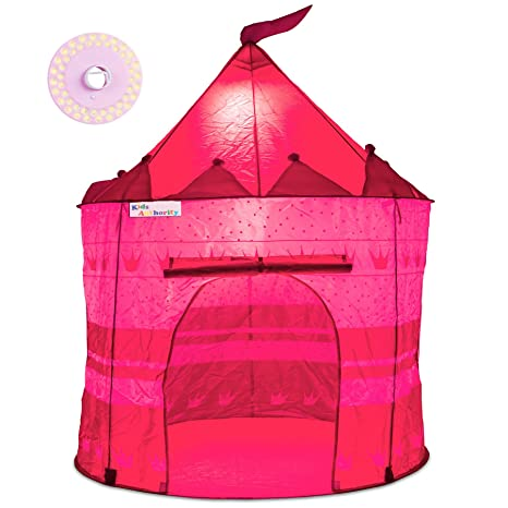 Pretty Princess Castle Play Tent for Girls u2013 Includes LED L& u0026 Glow in the Dark  sc 1 st  Amazon.com & Amazon.com: Pretty Princess Castle Play Tent for Girls u2013 Includes ...