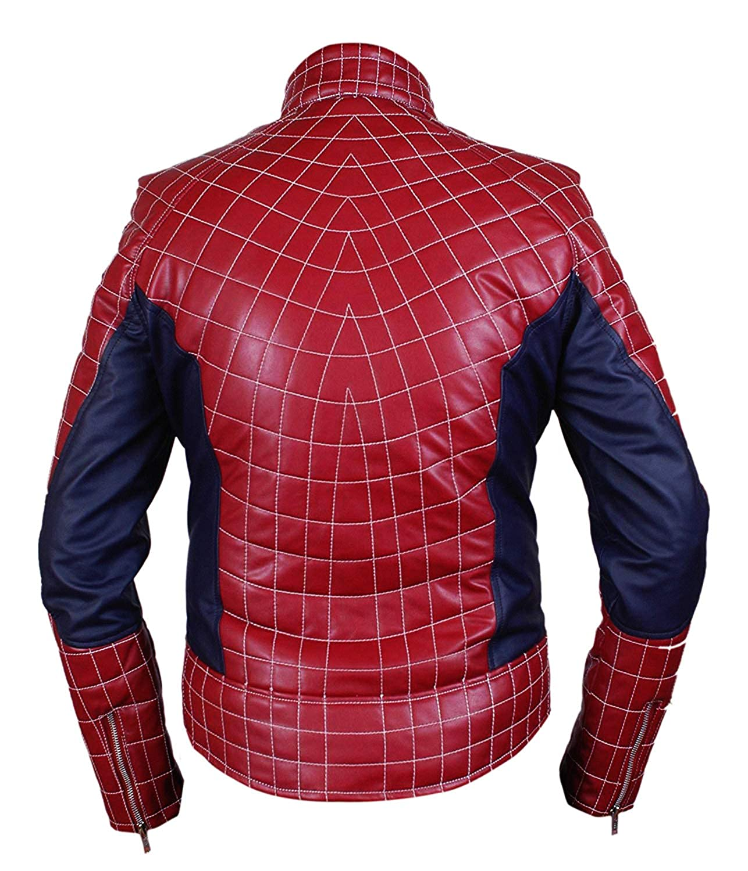 Spiderman Veste En HommesFemmes Amazing Cuir Véritable K1lFJc